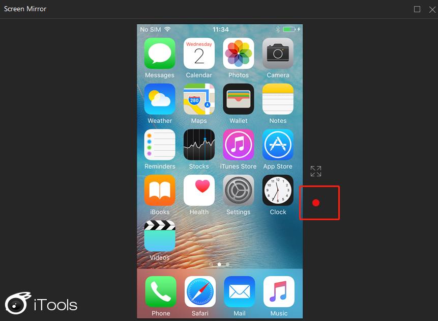 Scherm mirroring iPhone3